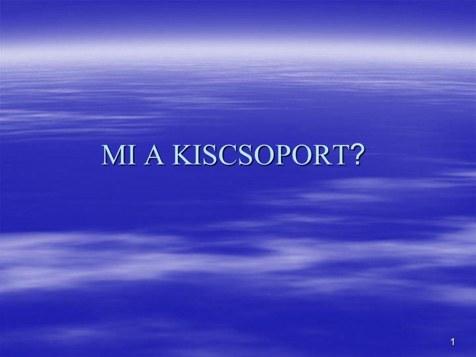 1 MI A KISCSOPORT ?