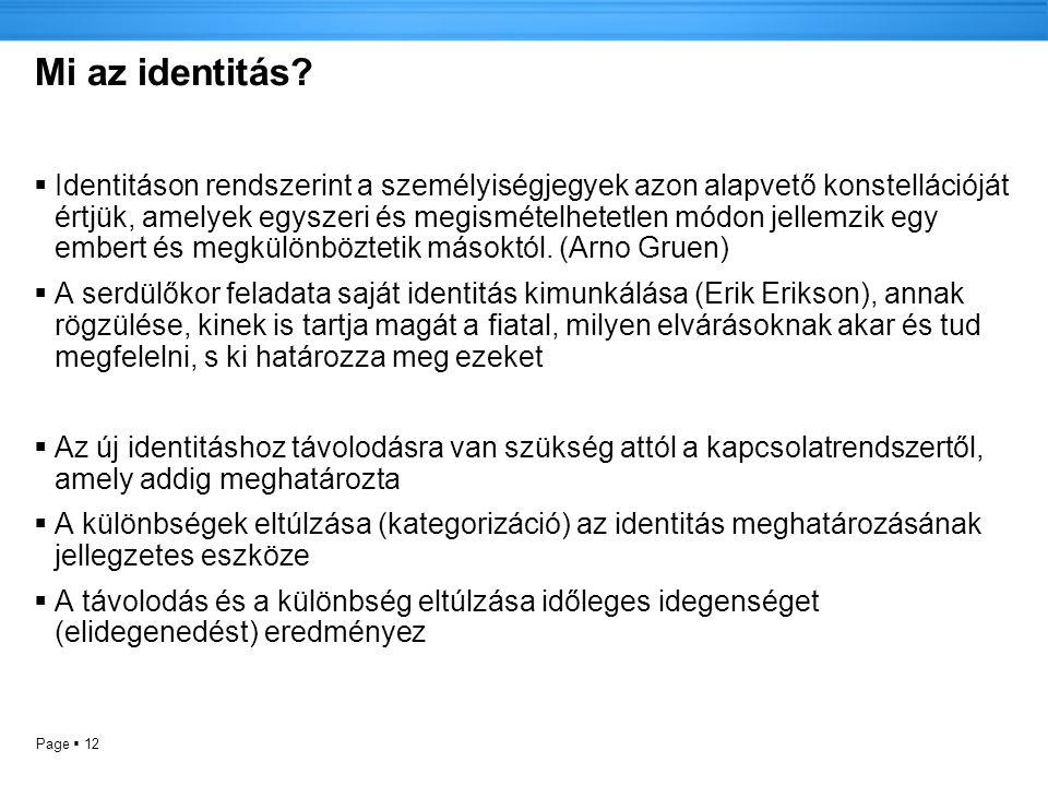 Page  12 Mi az identitás.