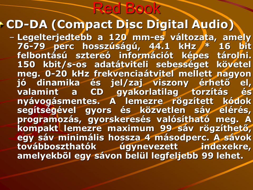 Red Book CD-S (Compact Disc Single) –A CD Single a 80 mm-es audió CD formátum, amely maximum 20-22 perc hanganyagot tartalmazhat.