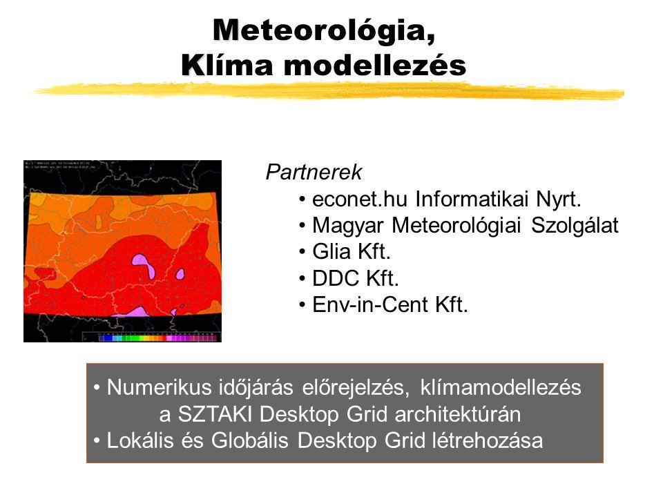 M Meteorológia, K Klíma modellezés Partnerek econet.hu Informatikai Nyrt.