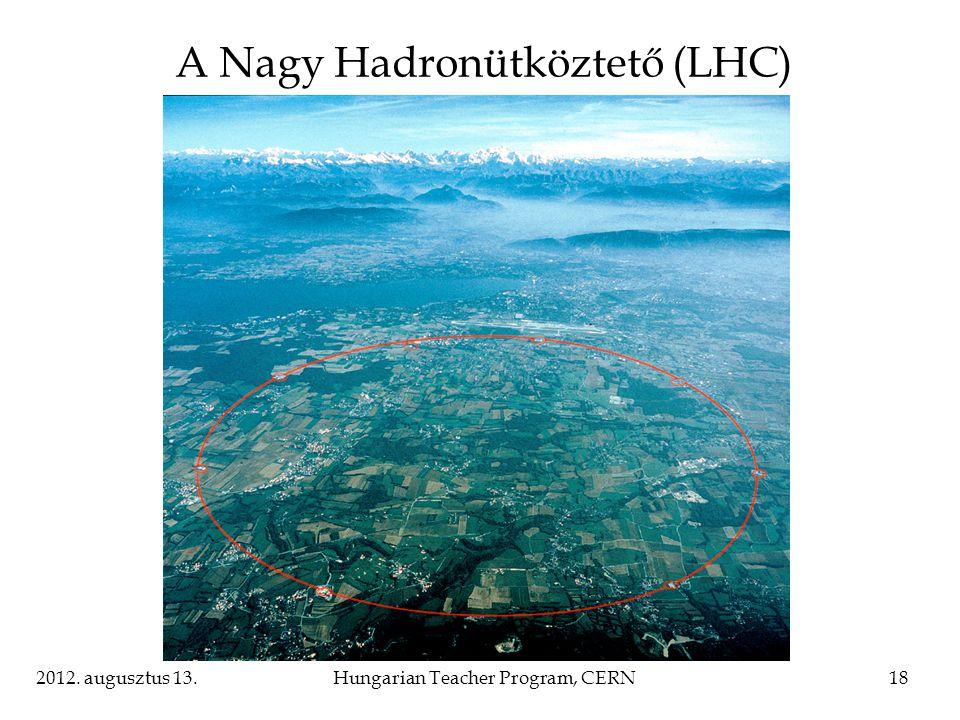 2012. augusztus 13.Hungarian Teacher Program, CERN18 A Nagy Hadronütköztető (LHC)