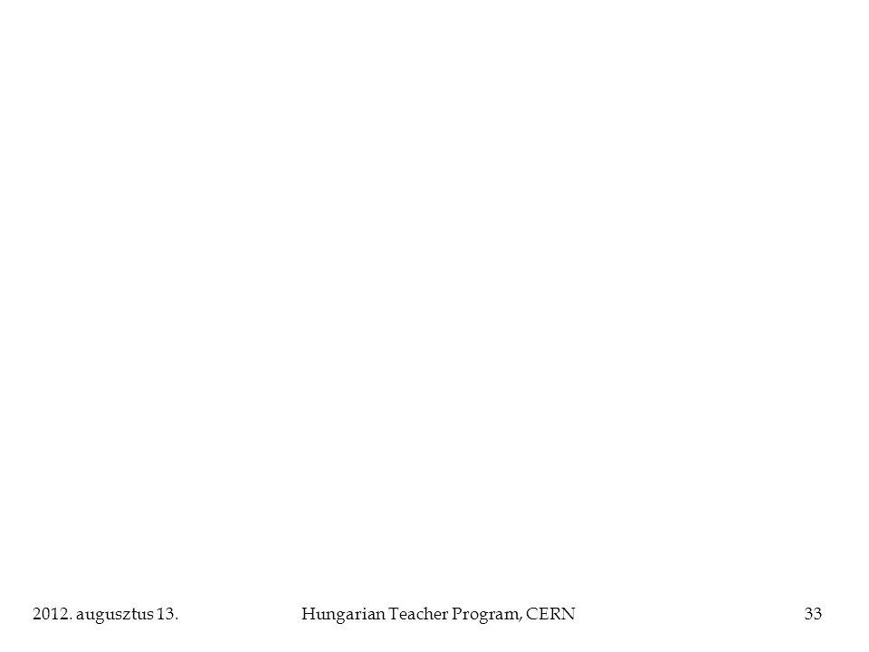 2012. augusztus 13.Hungarian Teacher Program, CERN33