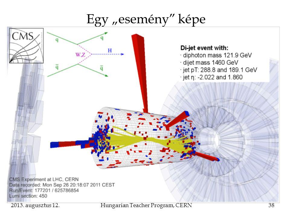 "2013. augusztus 12.Hungarian Teacher Program, CERN38 Egy ""esemény"" képe"