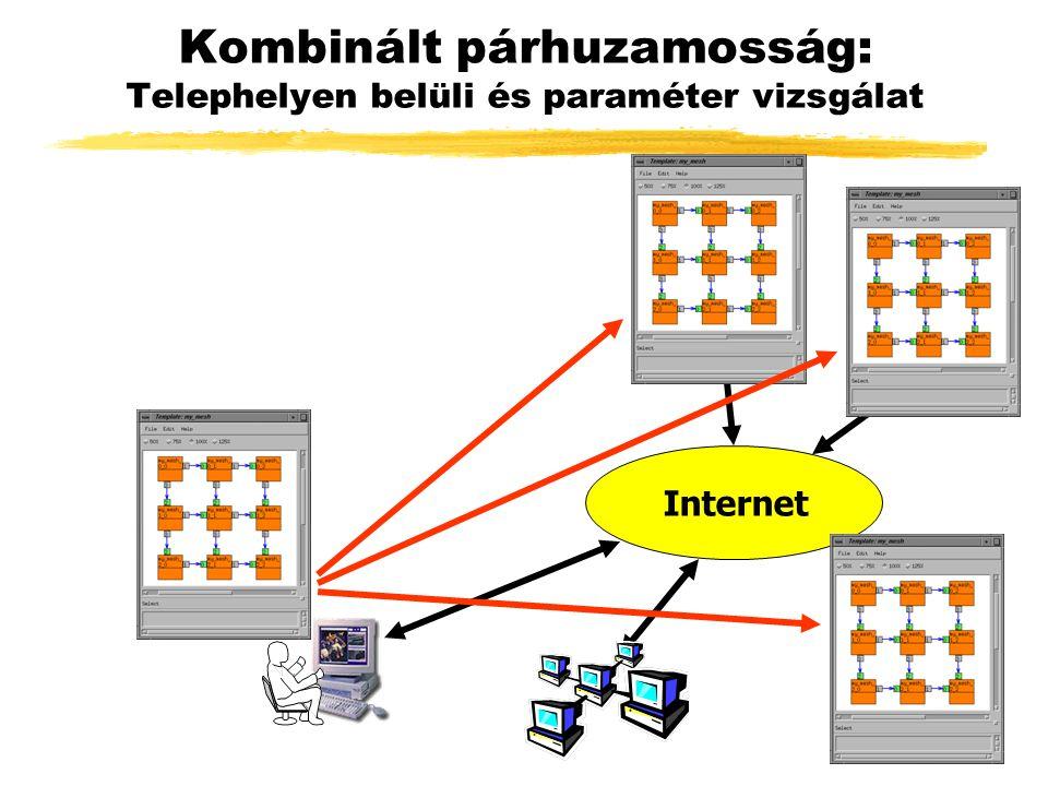 Kombinált párhuzamosság: Telephelyen belüli és paraméter vizsgálat Internet
