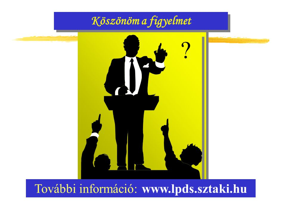 Köszönöm a figyelmet További információ: www.lpds.sztaki.hu