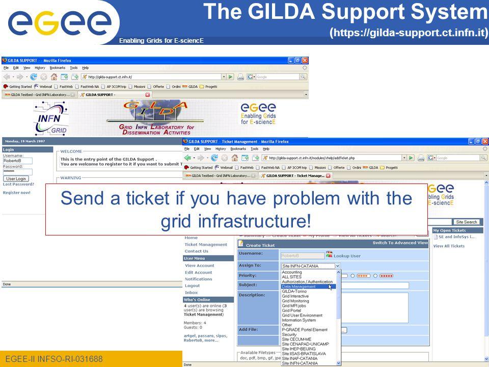 Enabling Grids for E-sciencE EGEE-II INFSO-RI-031688 6 GILDA P-GRADE Portal http://portal.pgrade.hu/gilda News How to get an account Example exercises
