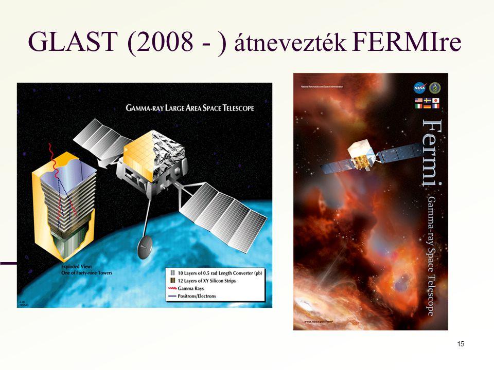 GLAST (2008 - ) átnevezték FERMIre 15