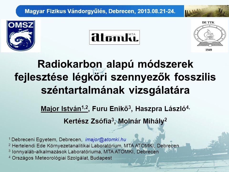 ÖSSZEFOGLALÁS Magyar Fizikus Vándorgyűlés, Debrecen, 2013.08.21-24.