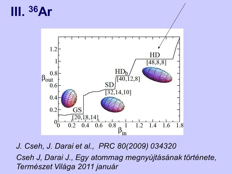 J. Cseh, J. Darai et al., PRC 80(2009) 034320 Cseh J, Darai J., Egy atommag megnyújtásának története, Természet Világa 2011 január