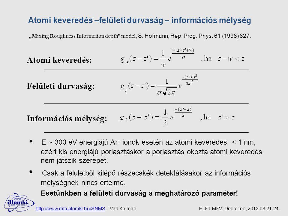 """Mixing Roughness Information depth model, S.Hofmann, Rep."