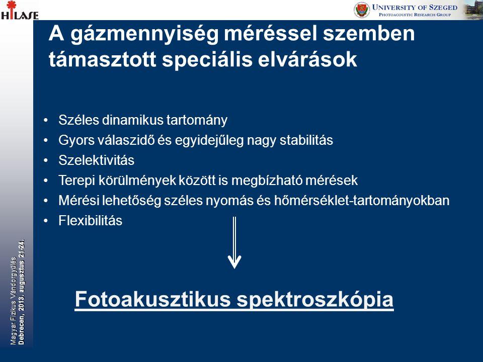 Fotoakusztikus rendszereink további alkalmazásai Magyar Fizikus Vándorgyűlés Debrecen, 2013.