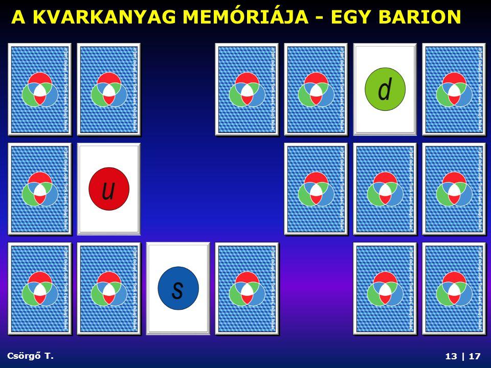 13 | 17 Csörgő T. A KVARKANYAG MEMÓRIÁJA - EGY BARION