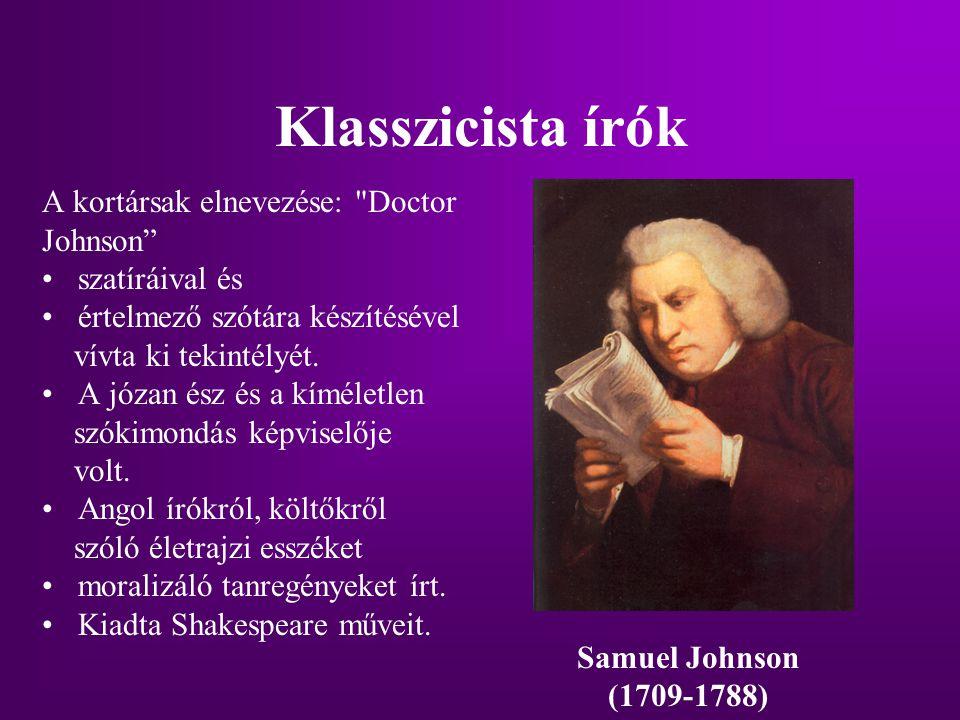 Klasszicista írók A kortársak elnevezése: