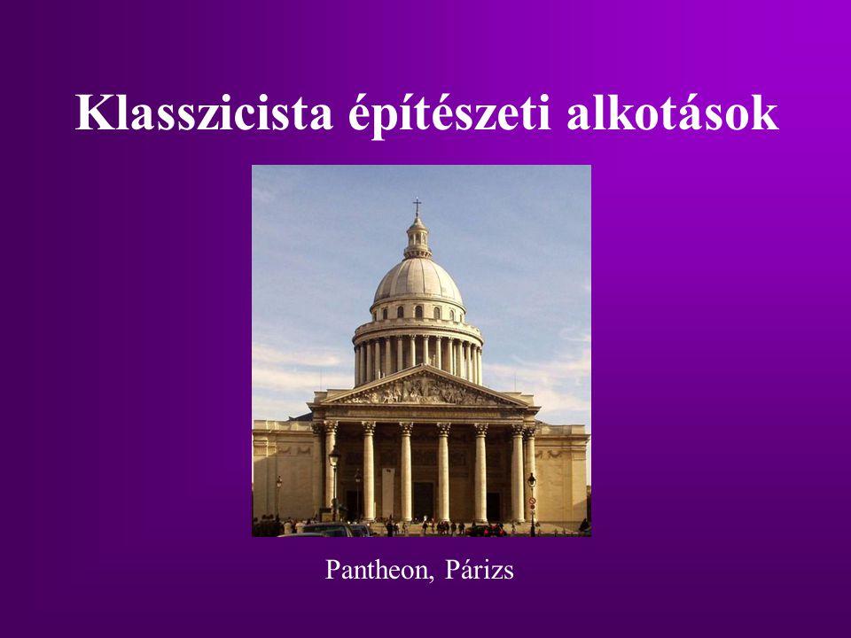 Klasszicista építészeti alkotások Pantheon, Párizs