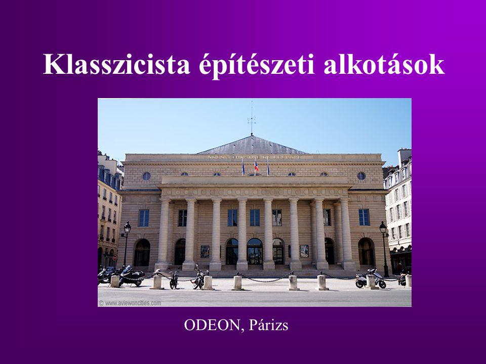Klasszicista építészeti alkotások ODEON, Párizs