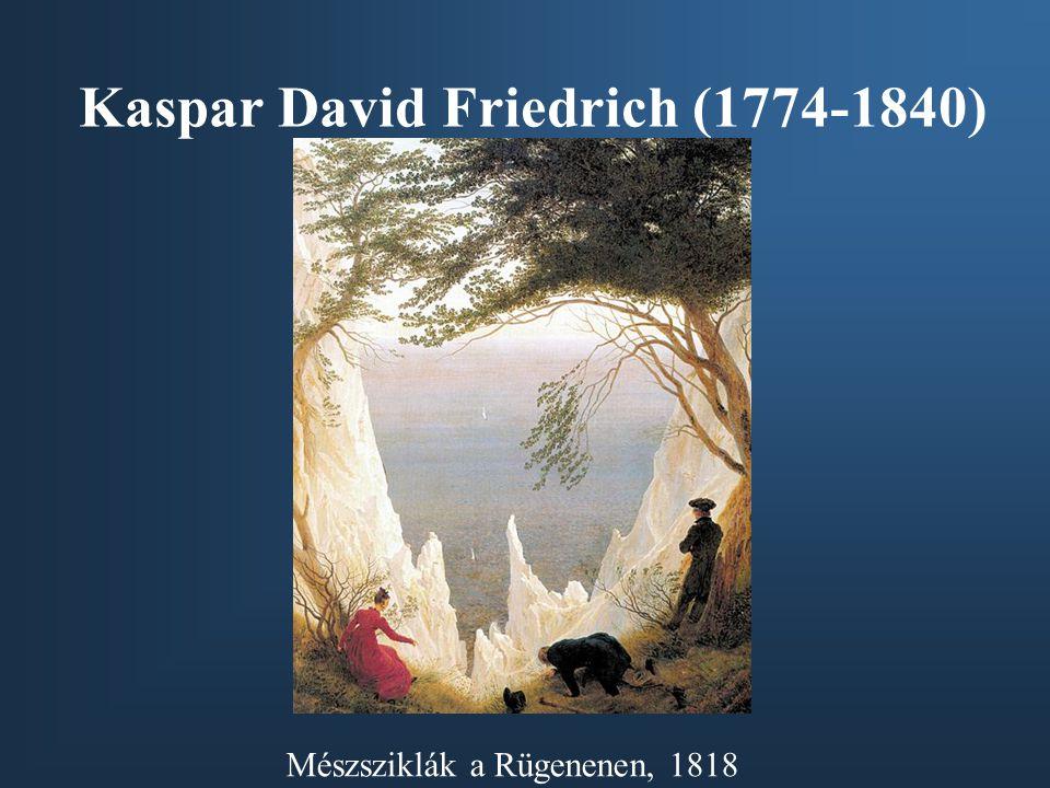 Kaspar David Friedrich (1774-1840) Mészsziklák a Rügenenen, 1818