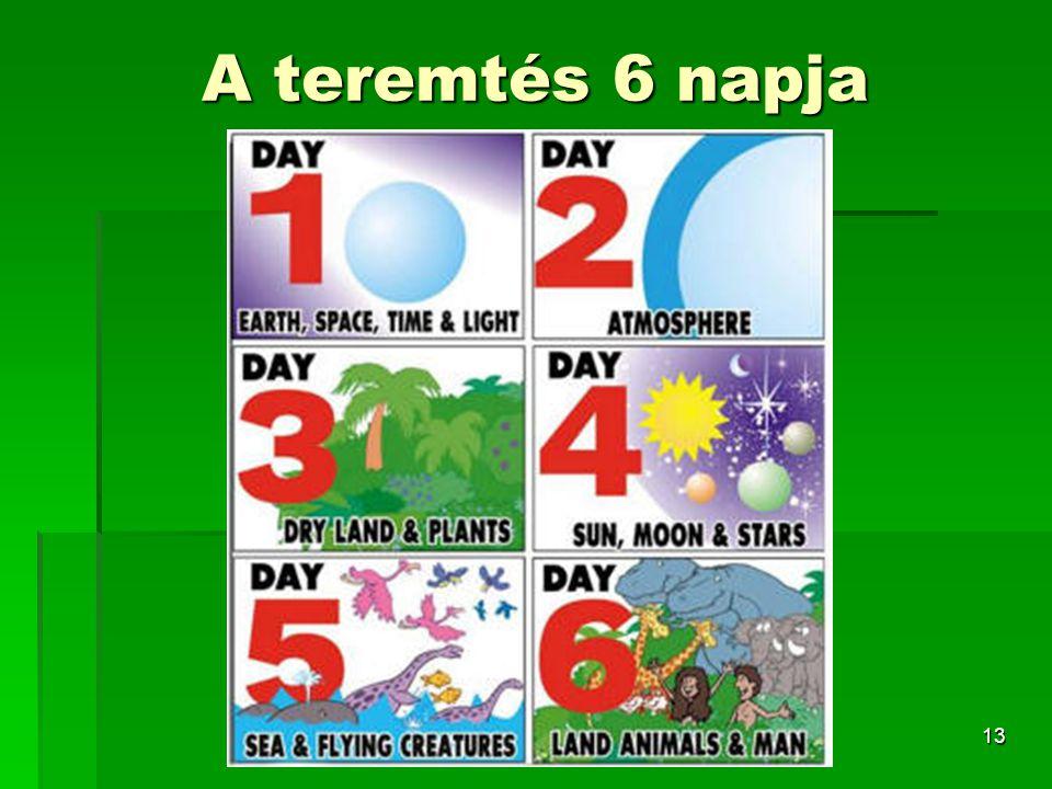 13 A teremtés 6 napja