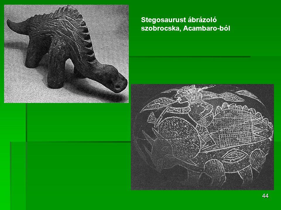 44 Stegosaurust ábrázoló szobrocska, Acambaro-ból