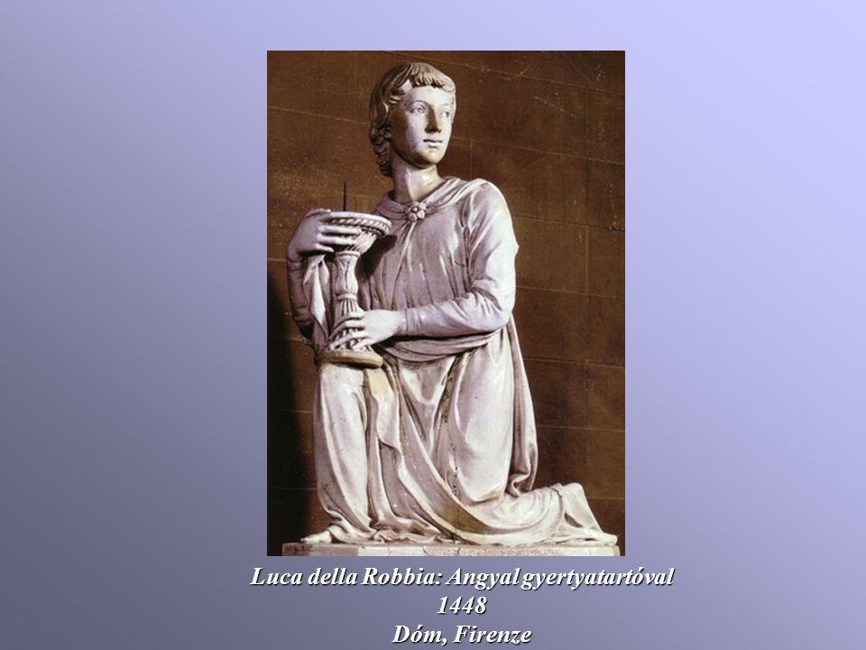 Luca della Robbia: Angyal gyertyatartóval 1448 Dóm, Firenze