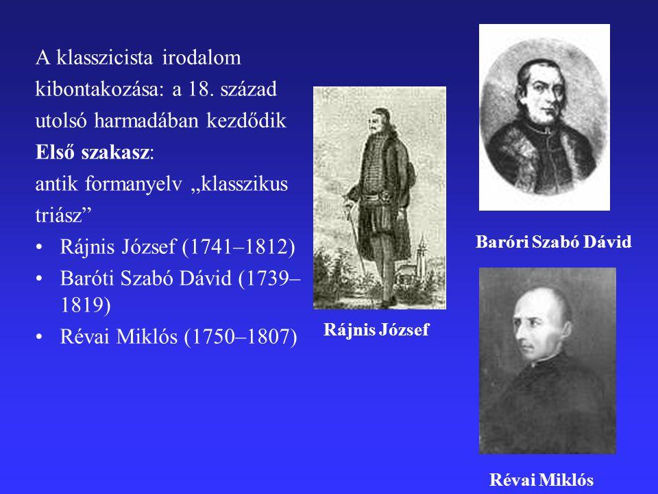 A klasszicista irodalom kibontakozása: a 18.