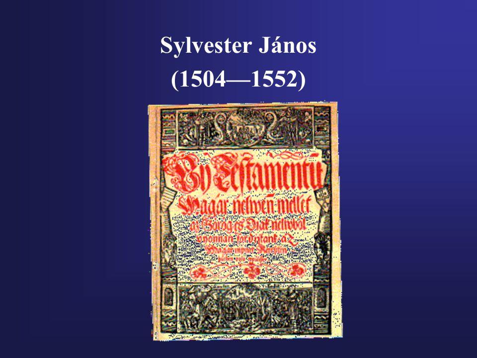 Sylvester János (1504—1552)