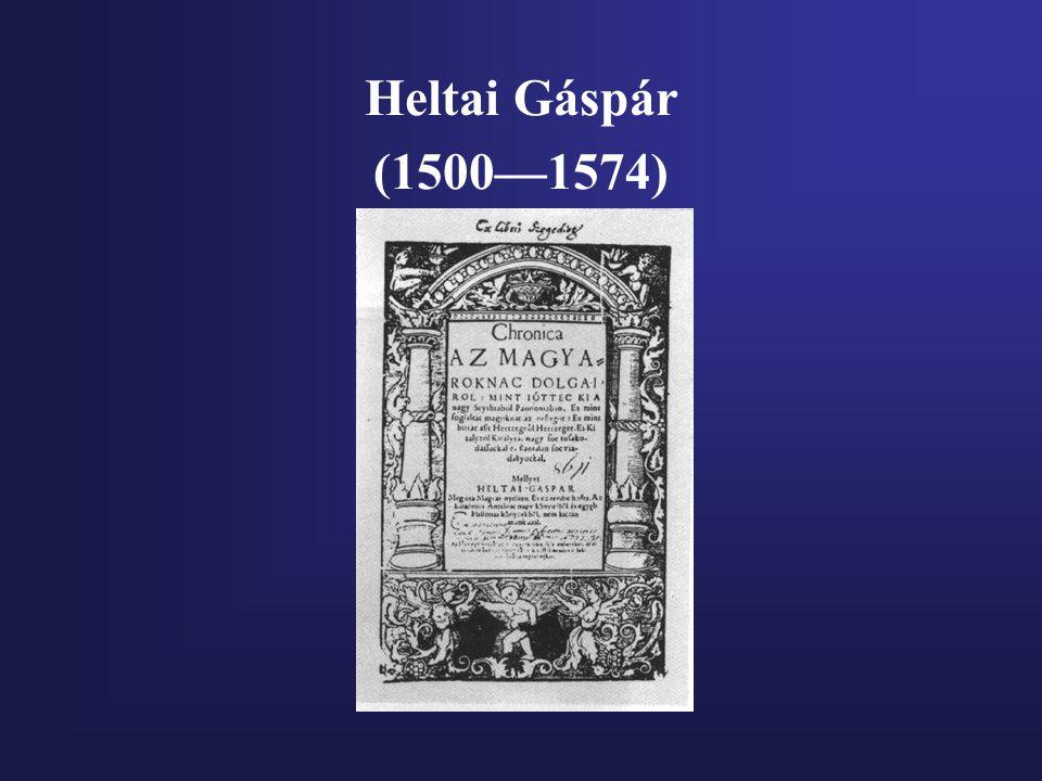 Heltai Gáspár (1500—1574)