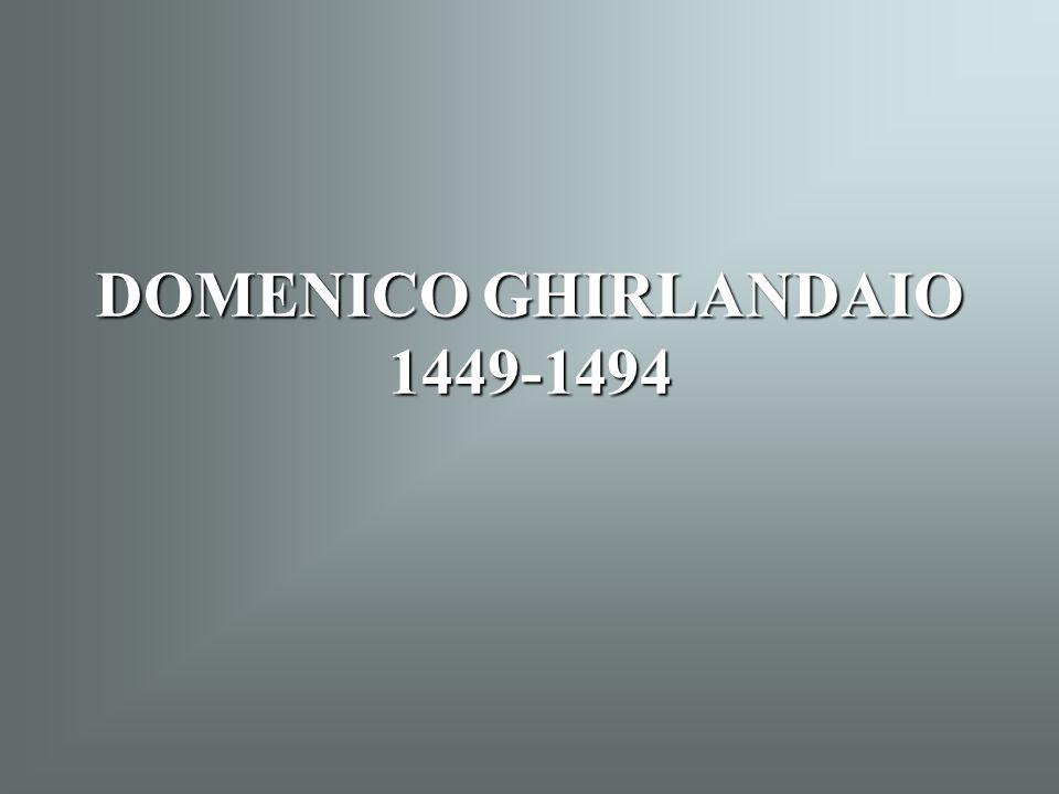 Ghirlandaio: Jézus megkeresztelése (1486-90) Capella Tornabuoni, Santa Maria Novella Firenze