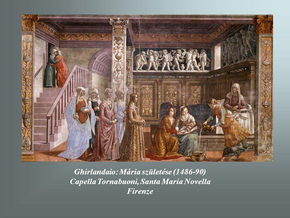 Ghirlandaio: Mária születése (1486-90) Capella Tornabuoni, Santa Maria Novella Firenze