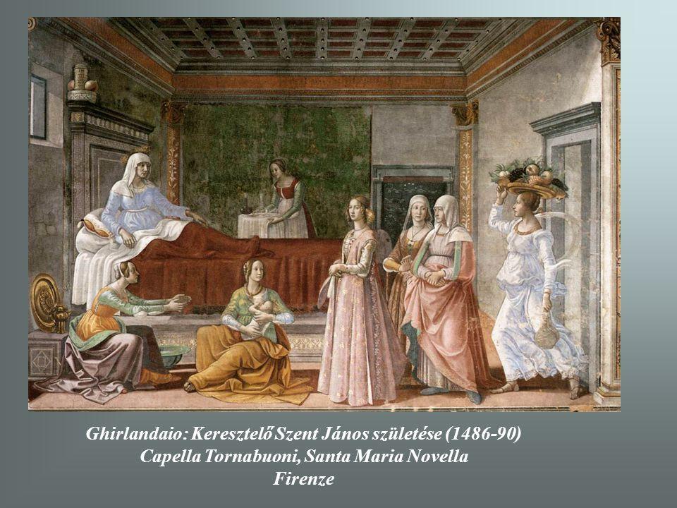 Ghirlandaio: Keresztelő Szent János születése (1486-90) Capella Tornabuoni, Santa Maria Novella Firenze