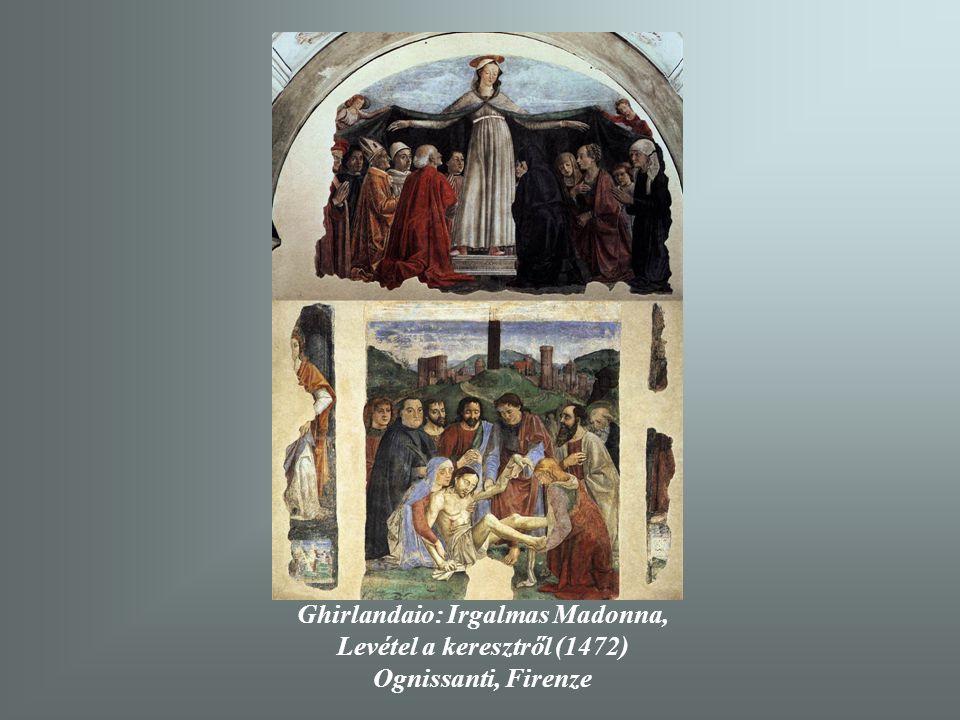 Ghirlandaio: Mária esküvője (1486-90) Capella Tornabuoni, Santa Maria Novella Firenze