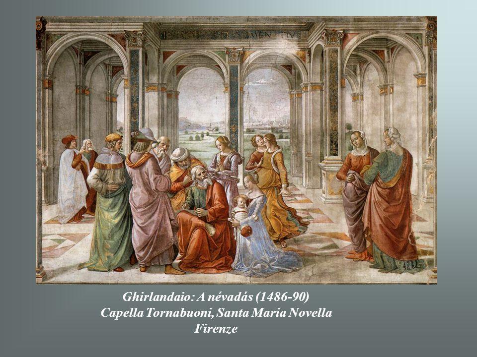 Ghirlandaio: A névadás (1486-90) Capella Tornabuoni, Santa Maria Novella Firenze