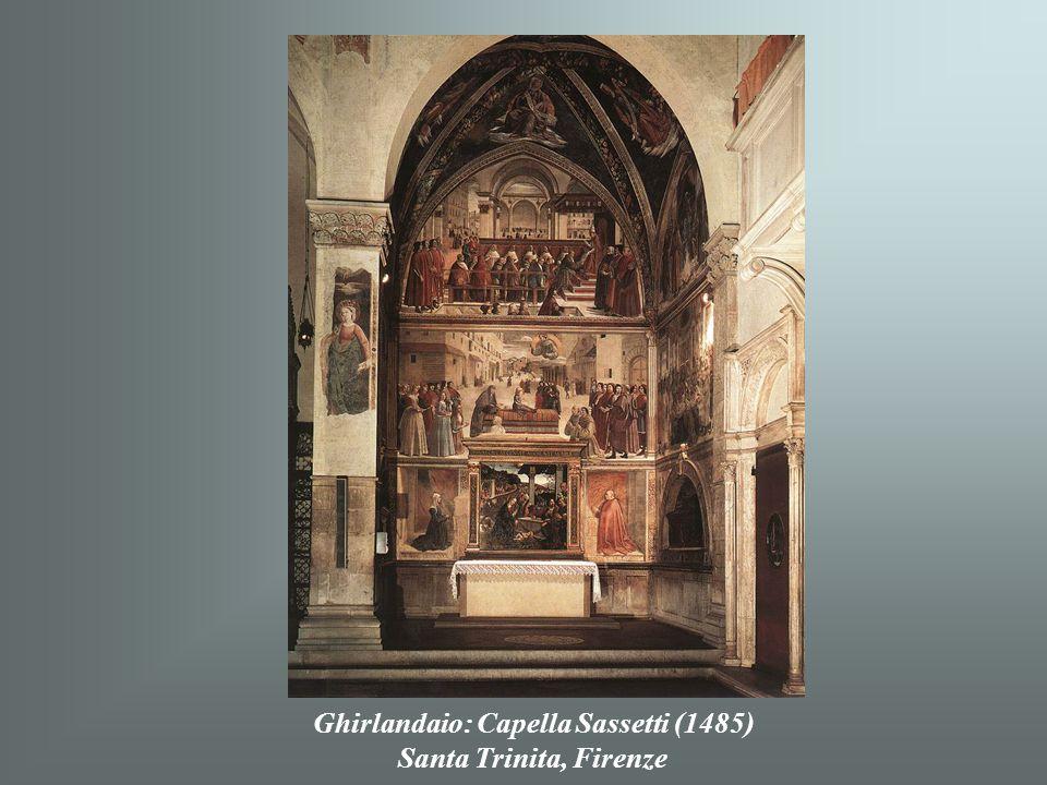 Ghirlandaio: Pásztorok imádása (1482-85) Santa Trinita, Firenze