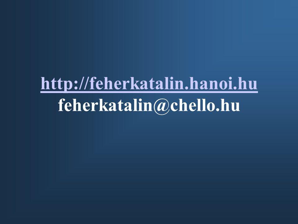 http://feherkatalin.hanoi.hu http://feherkatalin.hanoi.hu feherkatalin@chello.hu