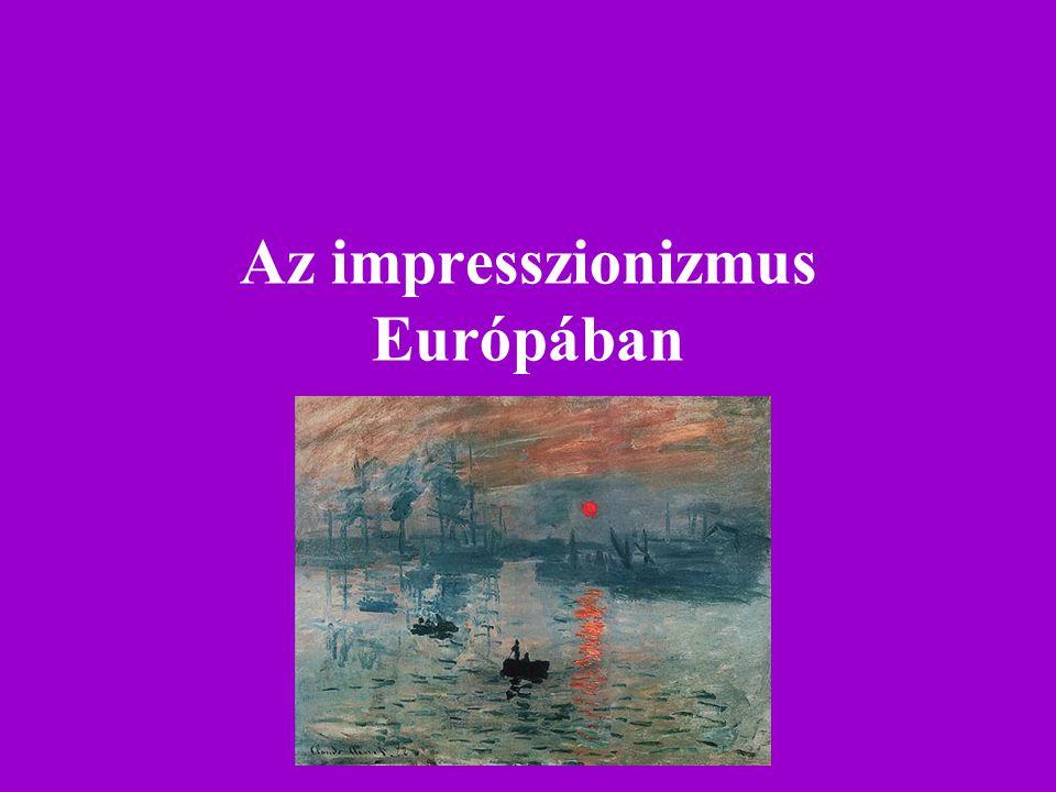 Az impresszionizmus Európában