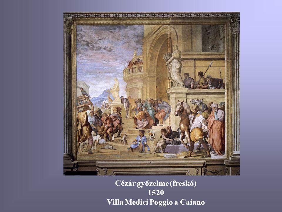 Cézár győzelme (freskó) 1520 Villa Medici Poggio a Caiano