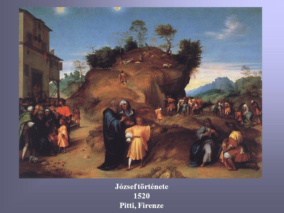 József története 1520 Pitti, Firenze