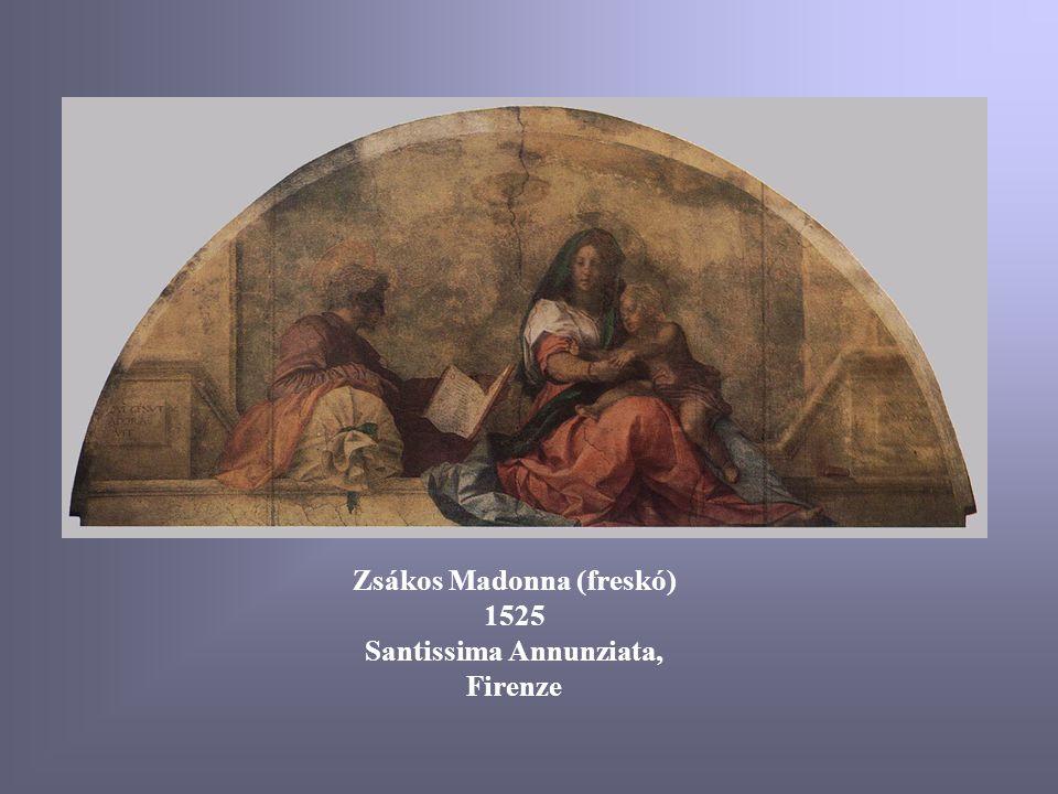 Zsákos Madonna (freskó) 1525 Santissima Annunziata, Firenze