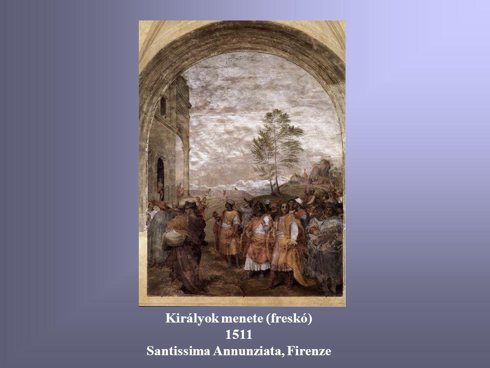 Angyali üdvözlet 1512-13 Pitti, Firenze