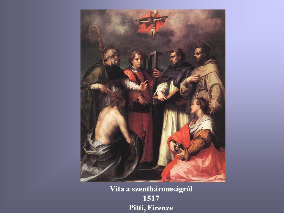 Glóriás Madonna, szentekkel 1528 Pitti, Firenze