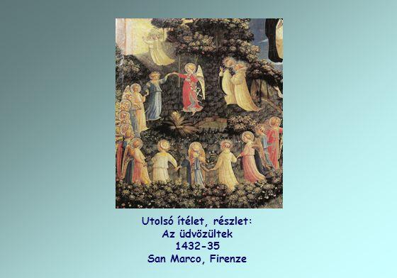 Utolsó ítélet, részlet: Az üdvözültek 1432-35 San Marco, Firenze