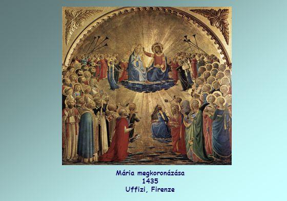 Mária megkoronázása 1435 Uffizi, Firenze