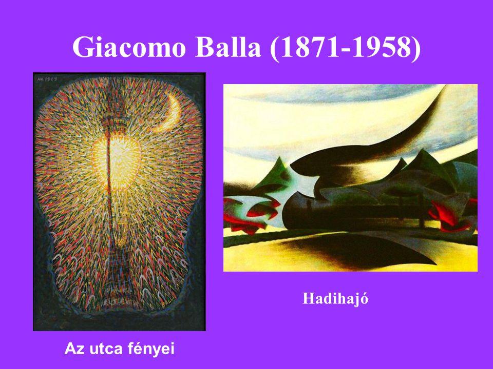 Giacomo Balla (1871-1958) Az utca fényei Hadihajó
