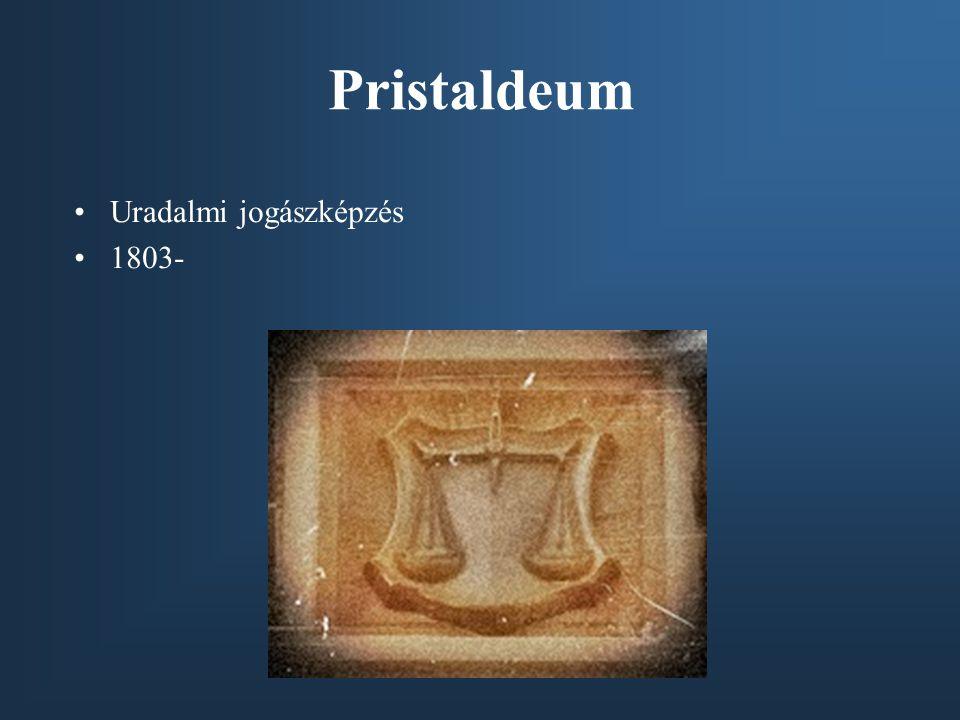 Pristaldeum Uradalmi jogászképzés 1803-