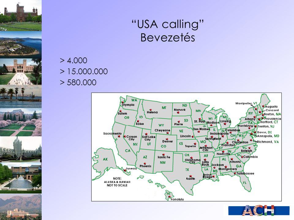 USA calling Hogyan tanulhatunk az USA-ban.