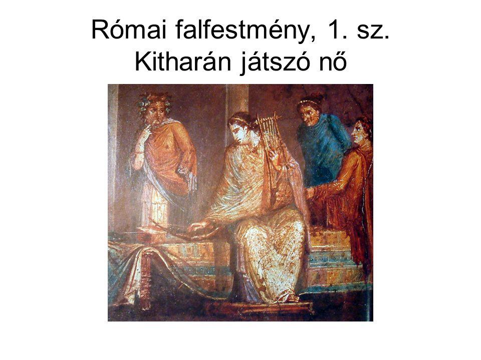 Római falfestmény, 1. sz. Kitharán játszó nő