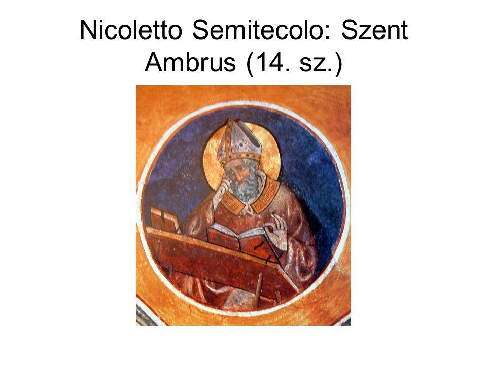 Nicoletto Semitecolo: Szent Ambrus (14. sz.)