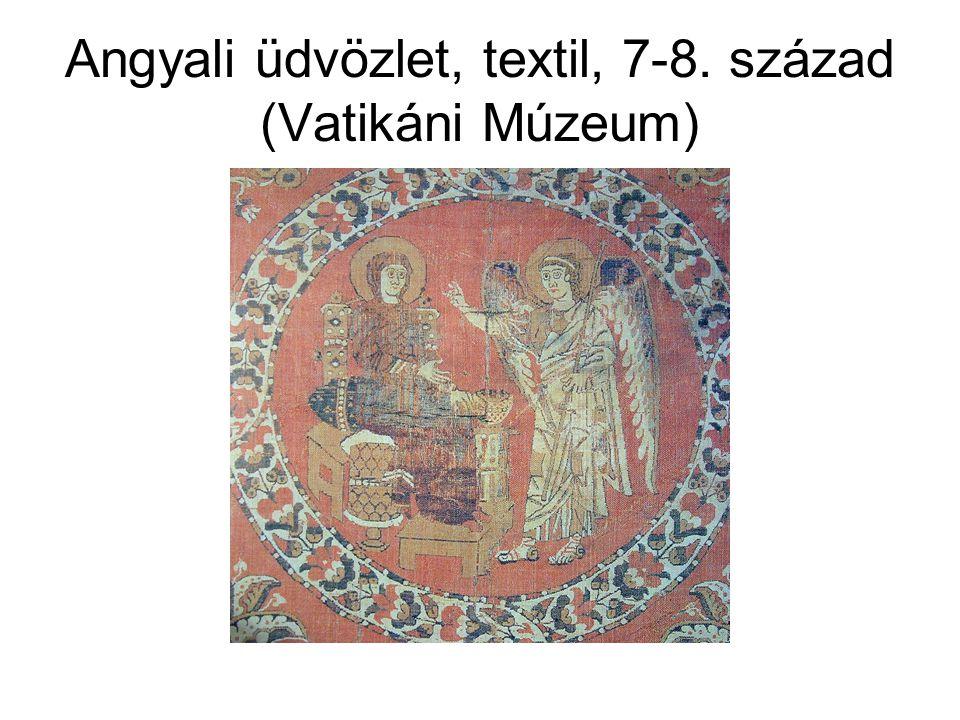 Angyali üdvözlet, textil, 7-8. század (Vatikáni Múzeum)