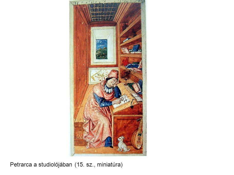 Petrarca a studiolójában (15. sz., miniatúra)