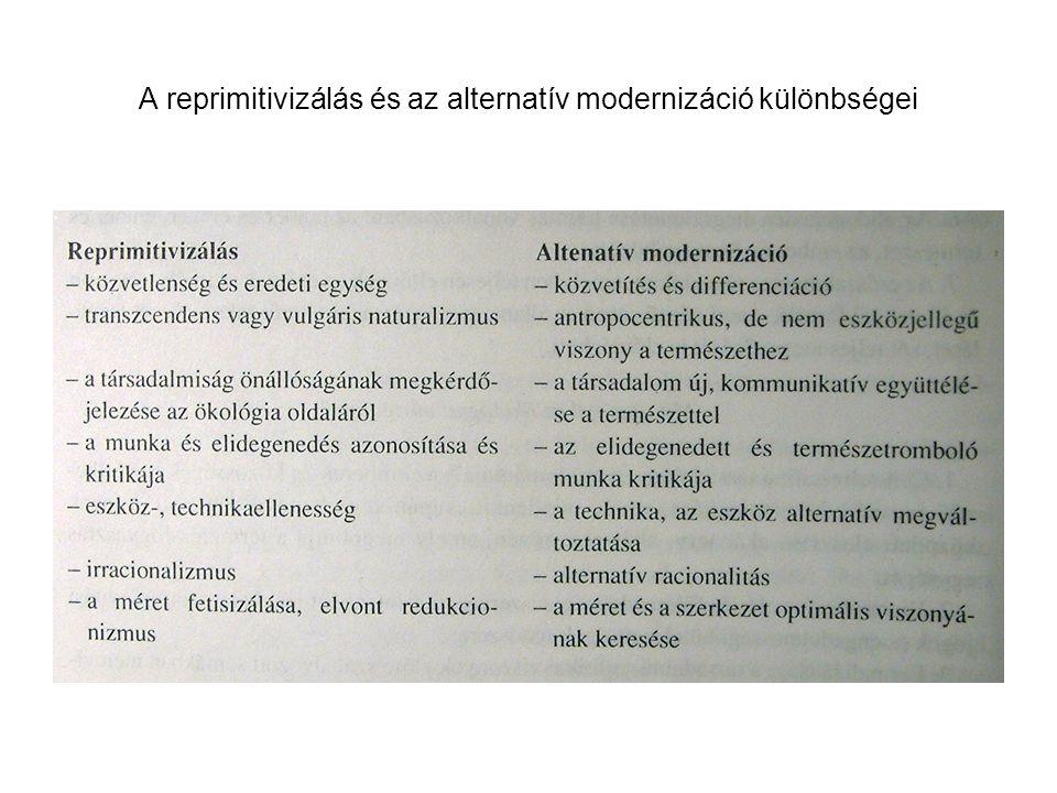 A reprimitivizálás és az alternatív modernizáció különbségei