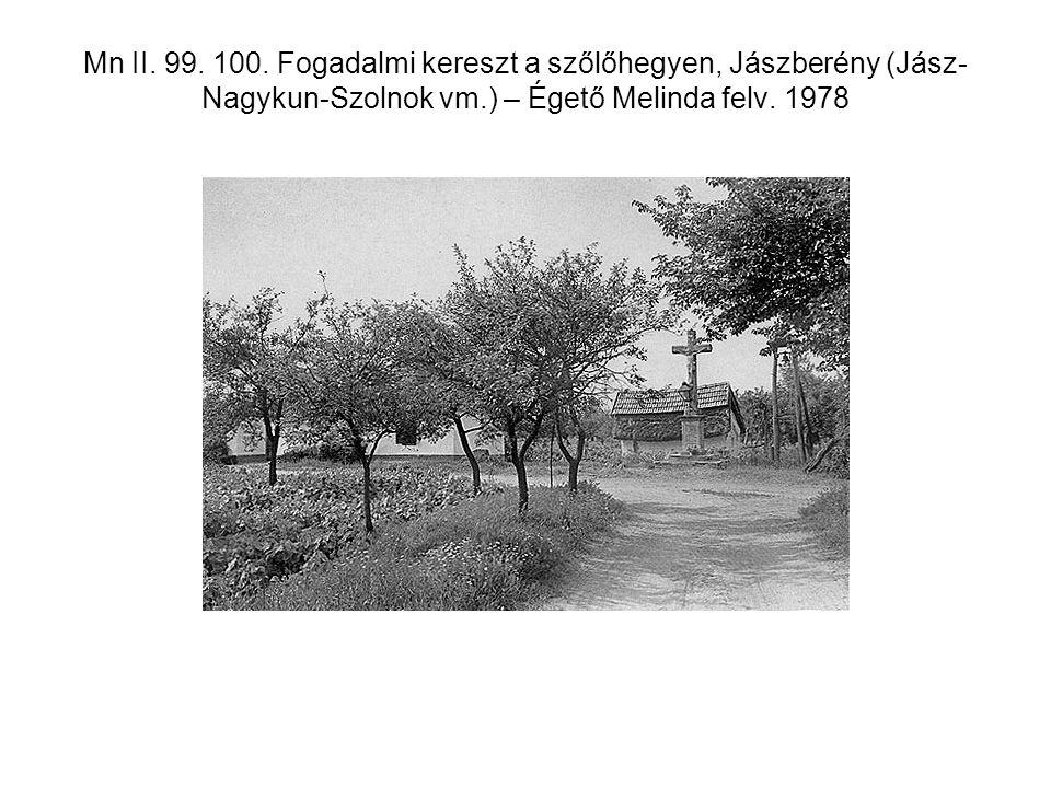 Mn II. 99. 100. Fogadalmi kereszt a szőlőhegyen, Jászberény (Jász- Nagykun-Szolnok vm.) – Égető Melinda felv. 1978